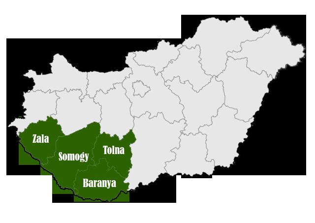 Somogy, Tolna, Baranya, Zala